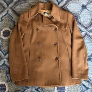 JCrew wool camel pea coat